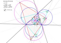 等角共役点の作る外接三角形と内接三角形の相似