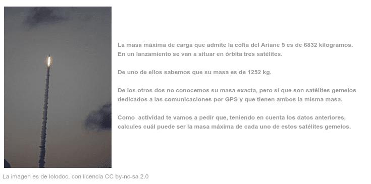 Inequações com dados do Ariane 5 Pressione Enter para iniciar a atividade