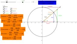 Razones trigonométricas del primer cuadrante