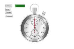 Cronómetro analógico con décimas