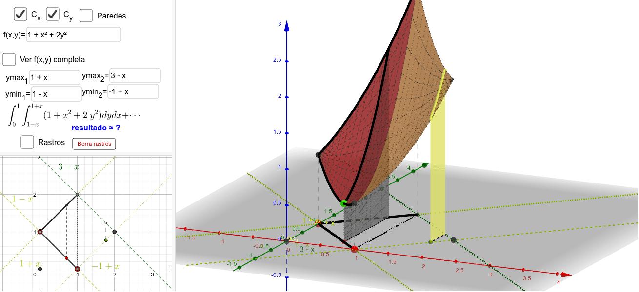 Orden de integración   dy dx
