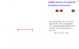Golden section - Euclidean method