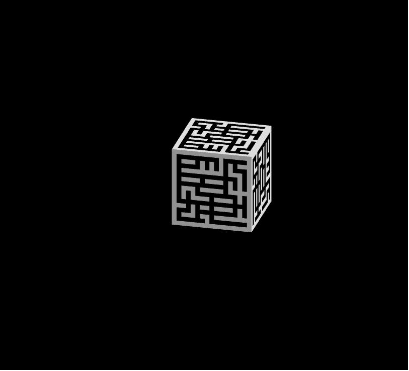 """Cubo con labirinto para a obra """"Idiota"""", de Redrum Teatro Presiona Intro para comenzar la actividad"""