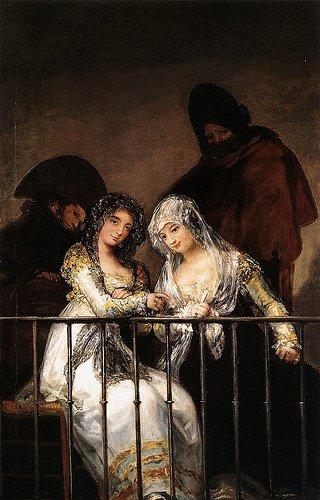 Goya. Las majas en el balcón. 1808-1812. Colección particular