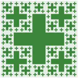 Croix de Jérusalem fractale