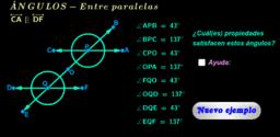 Ángulos entre paralelas ( ejemplos )