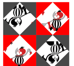 Alice in GeoGebra land. Playing cards