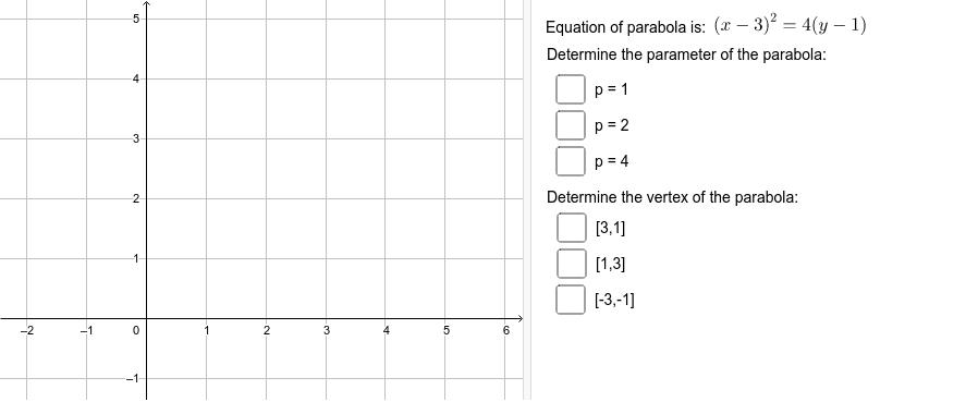 Parabola 01 Zahajte aktivitu stisknutím klávesy Enter