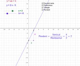Funcions que tenen per gràfica una recta