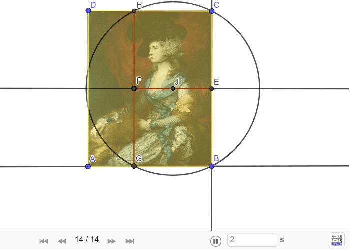 Konstrukcija biaurona na slici Portret gospođe Siddons Thomasa Gainsborougha Pritisnite Enter kako bi pokrenuli aktivnost