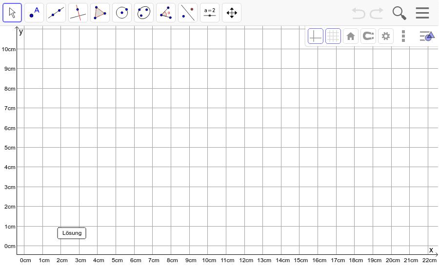 Dreieck 3: A(5/0), B(10/7), C(1/2): Zeichne das Dreieck und konstruiere den Höhenschnittpunkt H. Füge den Screenshot der Koordinaten von H im Auftrag in Teams ein! Drücke die Eingabetaste um die Aktivität zu starten