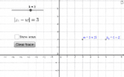 Locus in the complex plane: |z-w|=k
