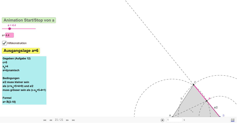 BM2TE18b 12 Läser Simon Dreieckskonstruktion  Drücke die Eingabetaste um die Aktivität zu starten