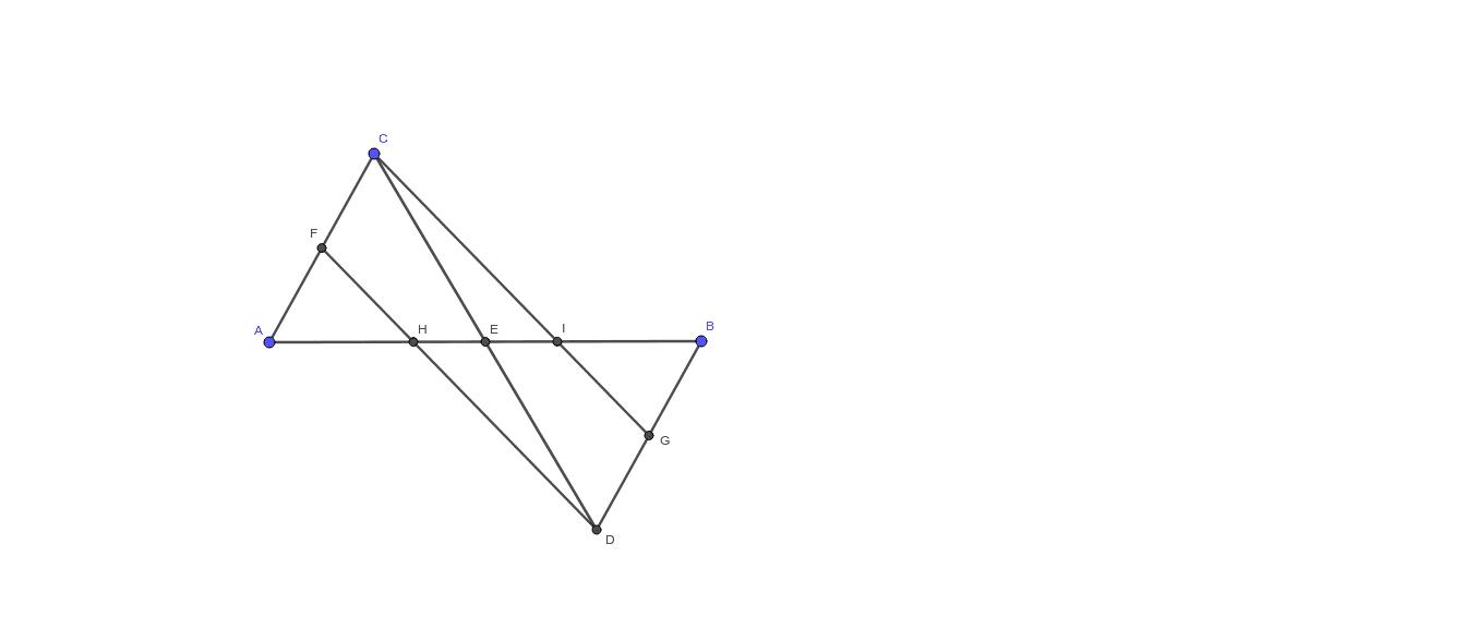 Qué relaciones se encuentran entre los segmentos AH, AE, HE, EI, HI, IB, AB. Presiona Intro para comenzar la actividad