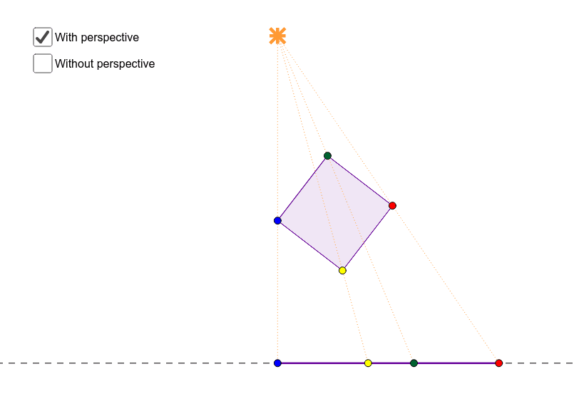 Move the yellow vertex rotate the square. Press Enter to start activity