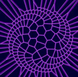 Equiangular Spiral,Voronoi and Delaunay Patterns