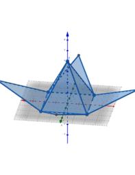 การสร้างรูปคลี่พีระมิดแบบเคลื่อนไหวได้