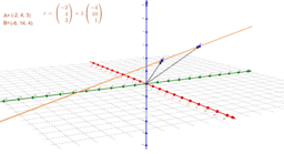 Vector equation of a line in 3-D