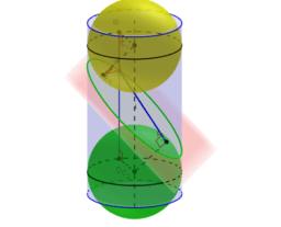 Section d'un cylindre par un plan.
