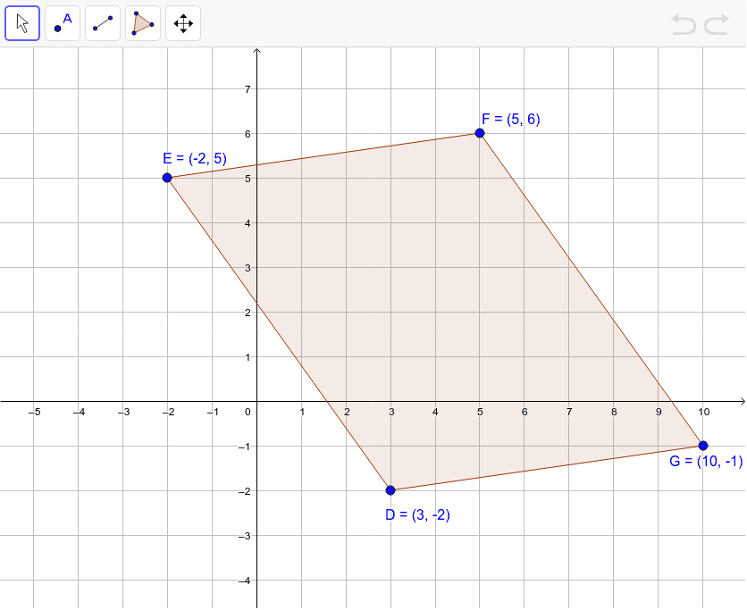 Decide whether quadrilateral DEFG is a parallelogram.
