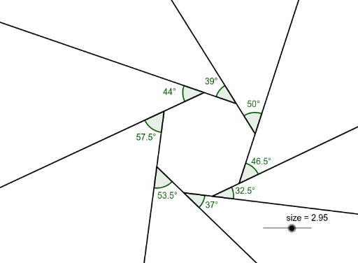 Sum of exterior angles of a polygon geogebra - Exterior angle of polygon formula ...