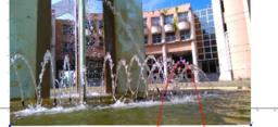 Jets d'eau place de l'école