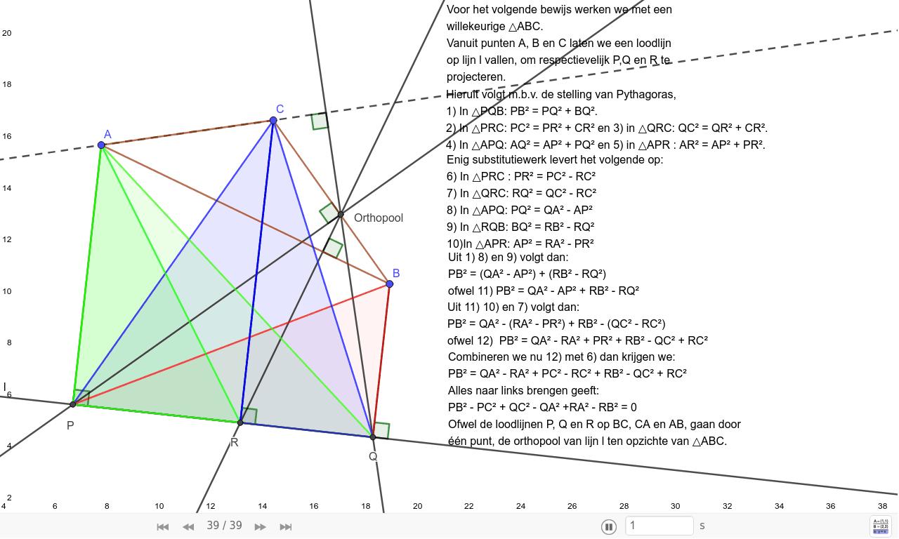 Loodlijnen 5 Loodlijnen uit een driehoek op een lijn Press Enter to start activity