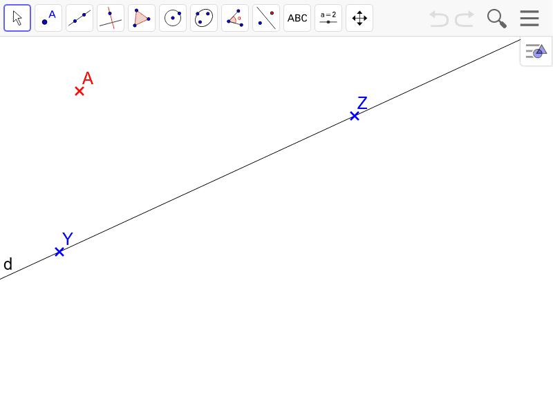 """Quelle la distance minimale entre la droite (d) et le point A ? Tapez """"Entrée"""" pour démarrer l'activité"""