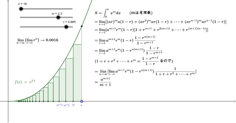 無理関数の積分はフェルマーによって初めて証明された。 ワークシートを始めるにはEnter キーを押してください。