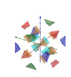 Vingt-quatre tétraèdres (différents) pour un cube