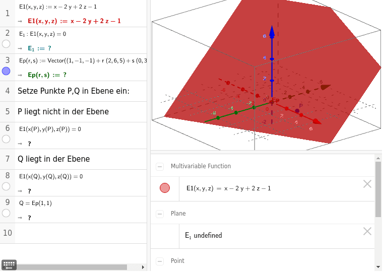 Koordinatengleichung und Parameterform