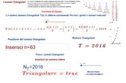 I numeri Triangolari e la formula di Gauss