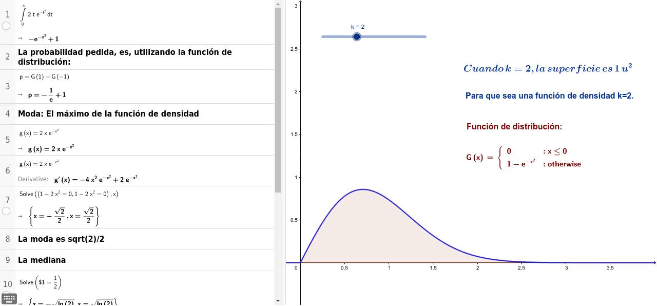 Función de densidad y distribución