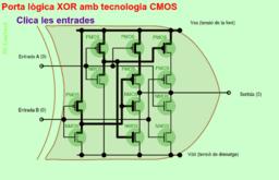 Porta lògica XOR amb tecnologia CMOS