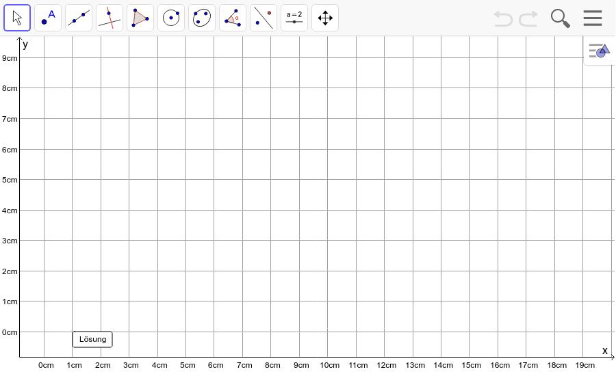 Dreieck 10: A(5/0), B(12/1), C(10/5): Zeichne das Dreieck und konstruiere den Umkreis. Füge den Screenshot der Koordinaten von U im Auftrag in Teams ein! Drücke die Eingabetaste um die Aktivität zu starten