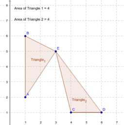 Triangles of Equal Area