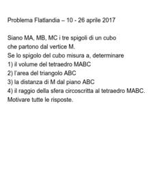 Flatlandia-problema aprile 2017