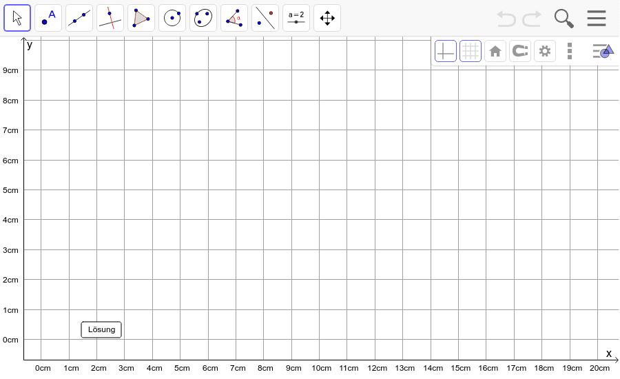 Dreieck 1:  A(2/1), B(10/3), C(3/9): Zeichne das Dreieck und konstruiere den Schwerpunkt S. Füge den Screenshot der Koordinaten von S im Auftrag in Teams ein! Drücke die Eingabetaste um die Aktivität zu starten