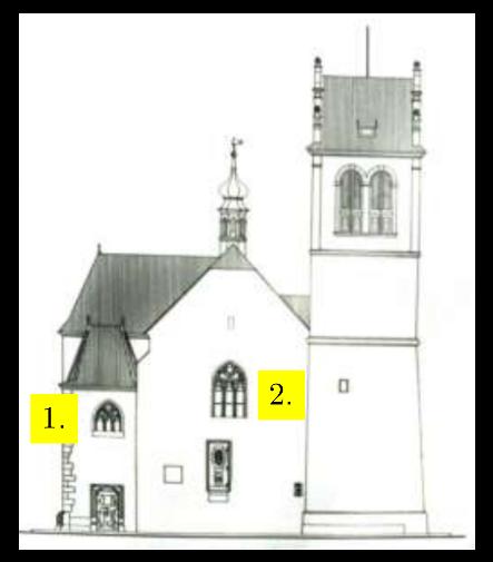 Kostel sv. Martina ve zdi - západ