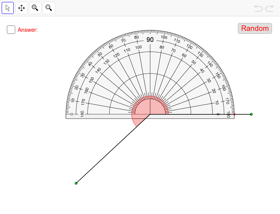 Measuring Angles With A Protractor – GeoGebra