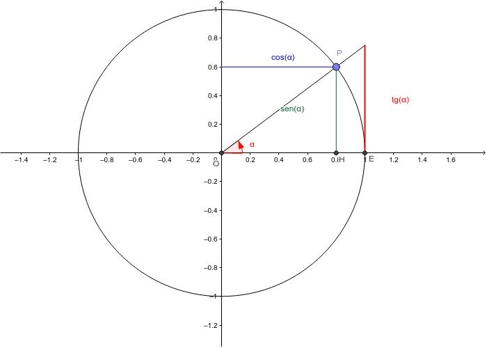 Le funzioni goniometriche sul cerchio goniometrico