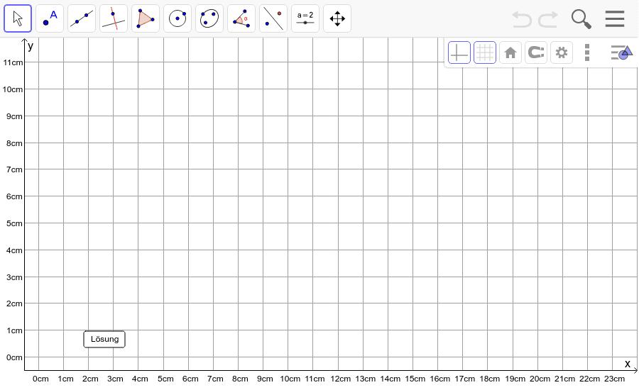 Dreieck 9: A(2/2), B(10/1), C(8/5): Zeichne das Dreieck und konstruiere den Höhenschnittpunkt H. Füge den Screenshot der Koordinaten von H im Auftrag in Teams ein! Drücke die Eingabetaste um die Aktivität zu starten