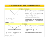Punti angolosi, cuspidi e flessi a tangente verticale