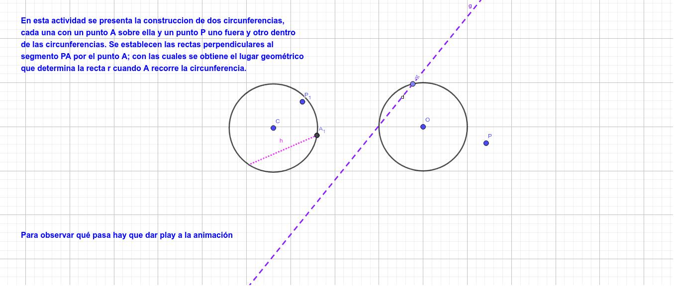Lugar Geométrico  Presiona Intro para comenzar la actividad