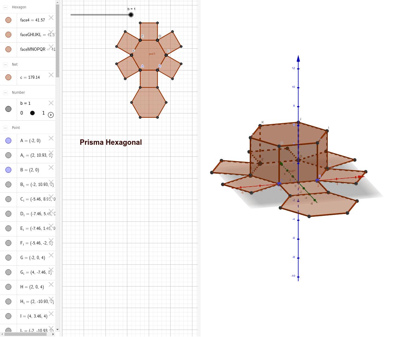 Prisma Hexagonal Press Enter to start activity