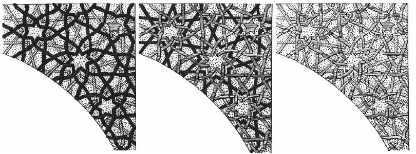 tekeningen uit artikel van Carol Bier: The Decagonal Tomb Tower at Maragha and its Architectural Context