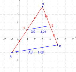 Triangle midpoint number