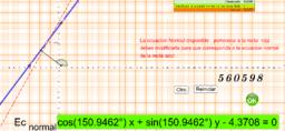 Ecuación Normal de un recta