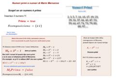 Numeri primi e numeri di Marin Mersenne