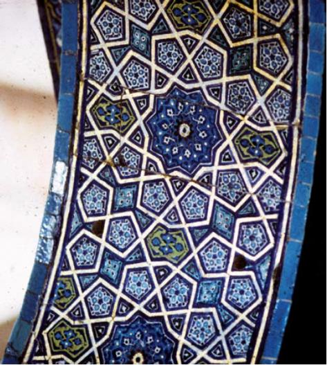 Detail van decoratie van de loge van de sultan in de Ottomaanse Groene moskee van Bursa (Turkije 1424 n.C.)